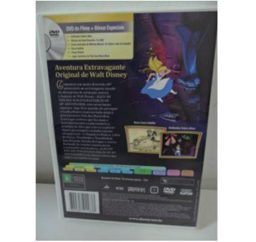 DVD ALICE NO PAÍS DAS MARAVILHAS. - Sem faixa etaria - Disney