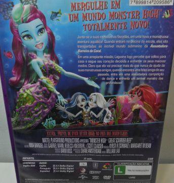 DVD MONSTER HIGH - A ASSUSTADORA BARREIRA DE CORAL. - Sem faixa etaria - DVD