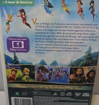 DVD TINKER BELL E O MONSTRO DA TERRA DO NUNCA. - Sem faixa etaria - Disney