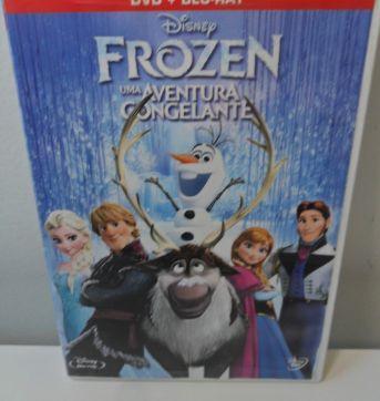 DVD + BLU-RAY FROZEN UMA AVENTURA CONGELANTE. - Sem faixa etaria - Disney