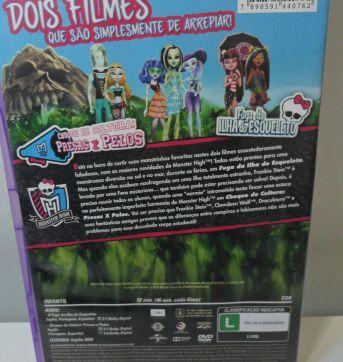 DVD MONSTER HIGH - DOIS FILMES. - Sem faixa etaria - DVD