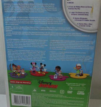 DVD DISNEY 4 DISCOS: A CASA DO MICKEY + JAKE + MANNY  + DOUTORA. - Sem faixa etaria - Disney