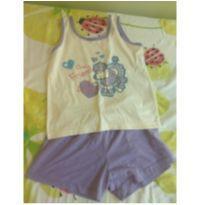 Pijama Infantil Poodle - 8 anos - Não informada