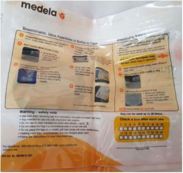 3 sacos esterilizador - Sem faixa etaria - Medela
