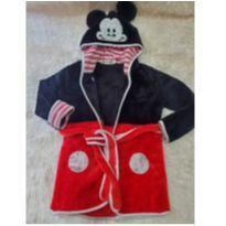 Roupão Microfibra Fleece Mickey Mouse - 3 anos - Disney