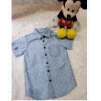 Camisa Jeans Manga Curta - 3 anos - Little Boy e Baby Club Original