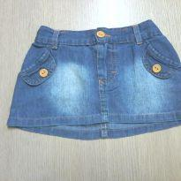 Saia Jeans Infantil - 18 a 24 meses - Carinhoso