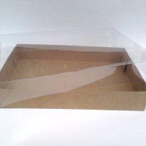 10 Caixas caixinha Papel Kraft 30 X 20 X 5 com Tampa de Acetato Plastico PVC - Sem faixa etaria - Caixinhas Kraft