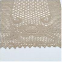 V3 Toalhinha de croche bege 34 x 24 com desenho de rosas -  - mm sapatinhos