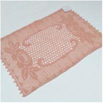 V8 Toalhinha de croche rosa 35 x 25 com desenho de rosas -  - mm sapatinhos
