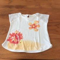 Verão Blusa Zara 12-18m com flores - 12 a 18 meses - Zara