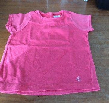 Camiseta Petit Bateau laranja - 2 anos - Petit Bateau