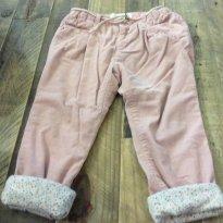 Calça veludo rosa com forro Zara - 2 anos - Zara