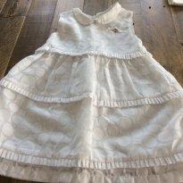 Vestido branco Baby Classic - 2 anos - Baby Classic