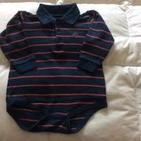Body marinho e vermelho Baby Cottons - 6 meses - Baby cottons