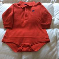 Body  vermelho Baby Cottons - 6 meses - Baby Cottons