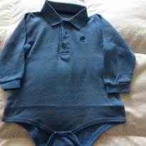 Body azul Baby Cottons - 6 meses - Baby Cottons