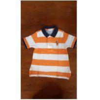 Camiseta polo com listras laranja RL - 18 meses - Ralph Lauren