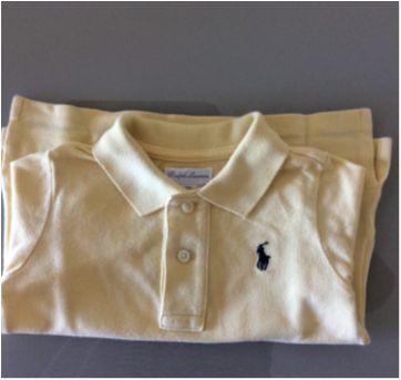 Camiseta polo amarela RL - 1 ano - Ralph Lauren