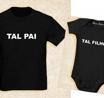 4d40de20a Camiseta e body Tal Pai Tal Filho Camiseta GG e Body 2 anos 2 anos ...