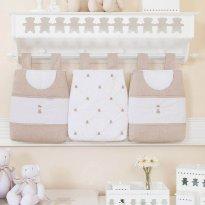 Porta Fraldas para Bebê 3 Peças Theodore Bege lindo demais Biramar - Sem faixa etaria - Biramar Baby