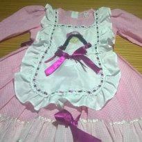 Vestido Festa Junina Julina Arraial Usado Apenas 1 Vez Tam 6 com boneca - 6 anos - Não informada