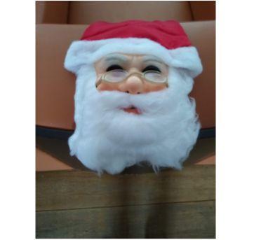 Máscara De Papai Noel Com Capuz Barba  E Óculos Natal - Sem faixa etaria - semmarca