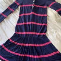 Vestido listrado rosa e azul Ralph Lauren - 6 anos - Ralph Lauren