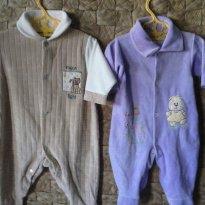 VOCÊ LEVA 2 POR PREÇO DE 1!!! Macacões de Plush da Bicho Molhado e Celui Baby - 3 a 6 meses - Celui Baby e Bicho Molhado