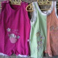 VOCÊ LEVA 2 POR PREÇO DE 1!!! Macacões da Soninho infantil e Bicho Molhado - 6 a 9 meses - Soninho Infantil e Bicho Molhado