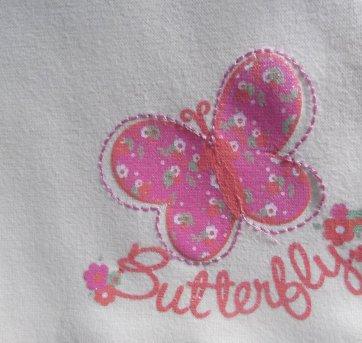 BLUSINHA BUTTERFLY - FIGURINHA GIRLS - TAM: 8 CORES : AMARELO E ROSA - 8 anos - Figurinha Girls e Riachuelo