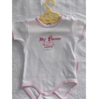 VERÃO  - BODY- CUTIE BABY -TAM:03 A 06 MESES  - COR : BRANCA - 3 a 6 meses - Cutie Baby