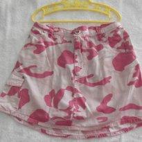 VERÃO  - SAIA CAMUFLADA - BOOMY GIRLS COR: PINK  - TAM: 08 ANOS - 8 anos - Boomy