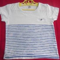 PRIMAVERA - CAMISETA BABY CLUB C&A - TAM: 18 A 24  MESES - COR: BRANCA - 18 meses - Baby Club