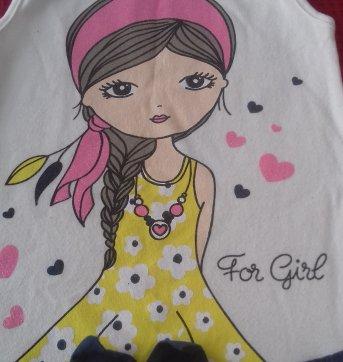 VESTIDO GIRL - FOR GIRL - TAM: 4 ANOS - COMP: 50CM - 4 anos - For Girl
