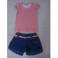 Conjunto Infantil Verao com Shorts Jeans - 2 anos - Rovitex