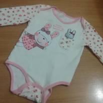 Body Manga Longa Menina - 9 a 12 meses - Boulevard Baby