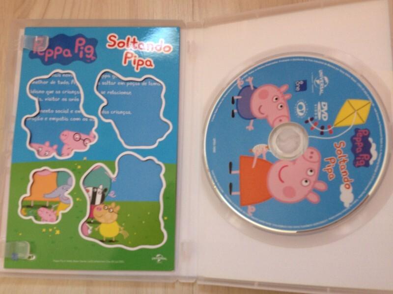DVD original da Peppa Pig Soltando Pippa, possui 10 episódios da Peppa, são  eles: Soltando Pipa, Minha Prima Chloé, O Papai Perde Seus Óculos, Soluço,  ...