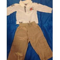 Conjunto calça e camiseta ML - 6 meses - Carter`s e Tip Top