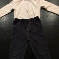 Legging + camiseta manga longa - 3 a 6 meses - Carter`s