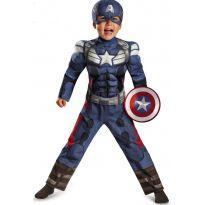 Fantasia luxo Capitão América - 3 anos - Disguise Costume Importad