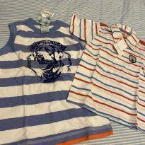 Camiseta polo e regata - 3 anos - Diversas