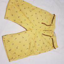Bermuda Zara amarela coqueiros tamanho 7 - 7 anos - Zara