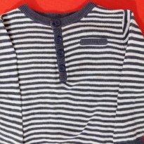 Blusa de Lã Azul Marinho . - 3 a 6 meses - Basic + Baby