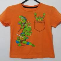 Camiseta Manga Curta Tartarugas Ninjas . - 5 anos - nickelodeon