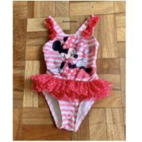 Maiô Minnie com babados - 1 ano - Disney