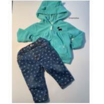 Conjunto Casaco e jeans Carter's - 9 meses - Carter`s