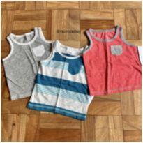 Conjunto de 3 Camisetas regatas estilosas - 3 a 6 meses - George