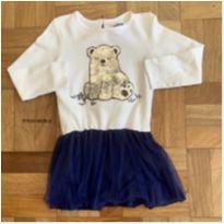 Vestido com urso de paetê - 4 anos - Pool Kids
