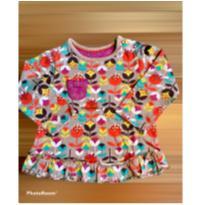 Camiseta manga comprida  florida tam 6/9 meses - 6 a 9 meses - Não informada
